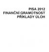 Finanční gramotnost , příklady úloh